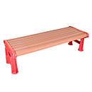 Backless and Armless Outdoor Garden Bench