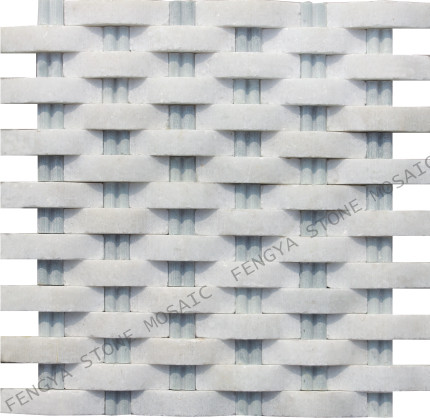 White Marble,China Stone Mosaic, White Marble Tile