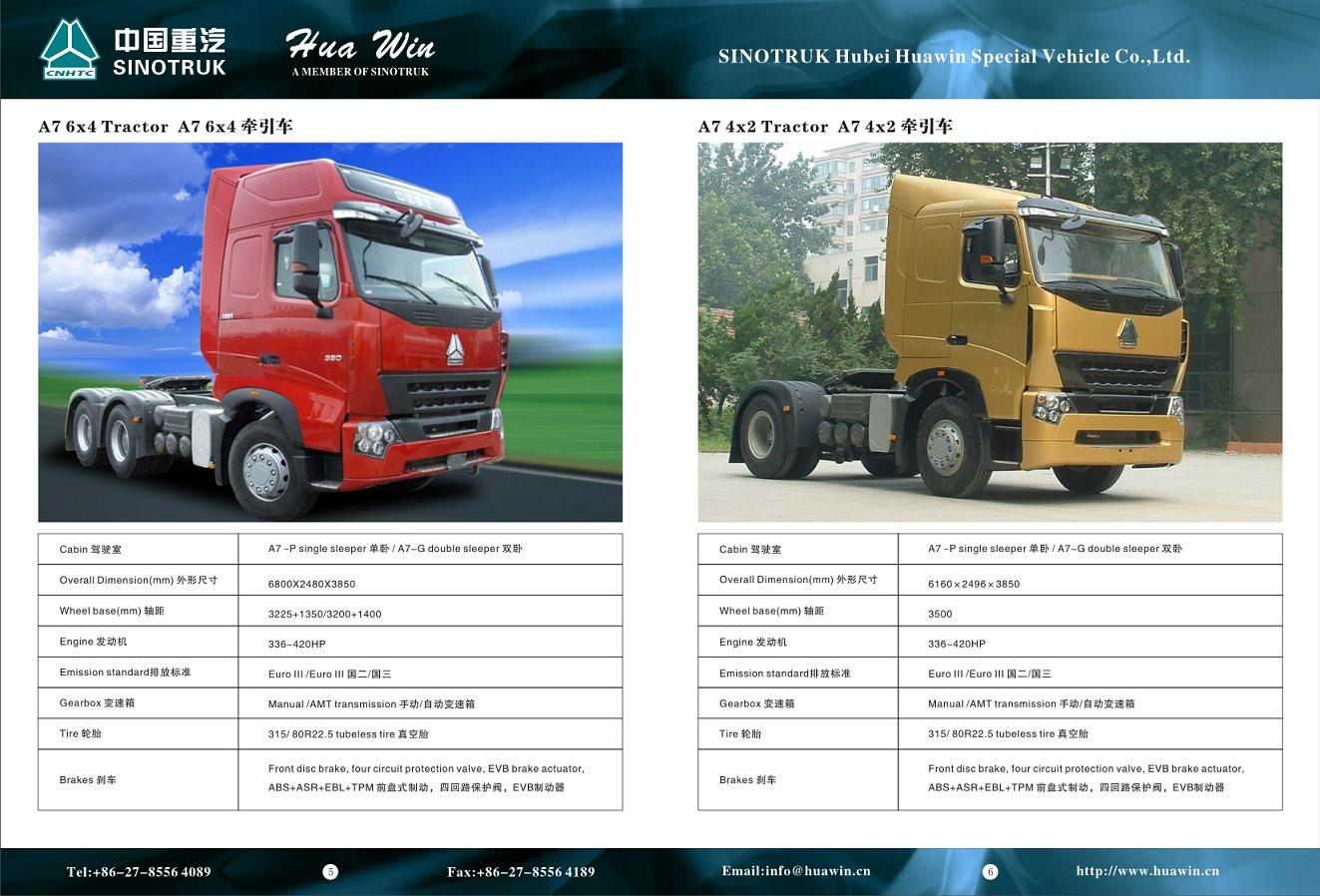 Hubei Tractor Parts : A tractor sinotruk hubei huawin special vehicle co ltd