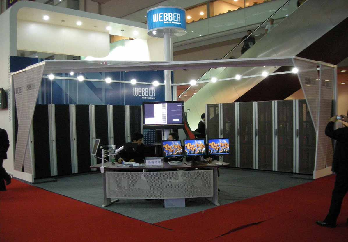 Webber attended the 9th china hi tech fair held in shenzhen in 2007