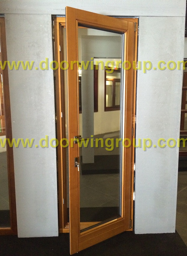 Solid Wood Aluminum French Door Beijing Doorwin Window