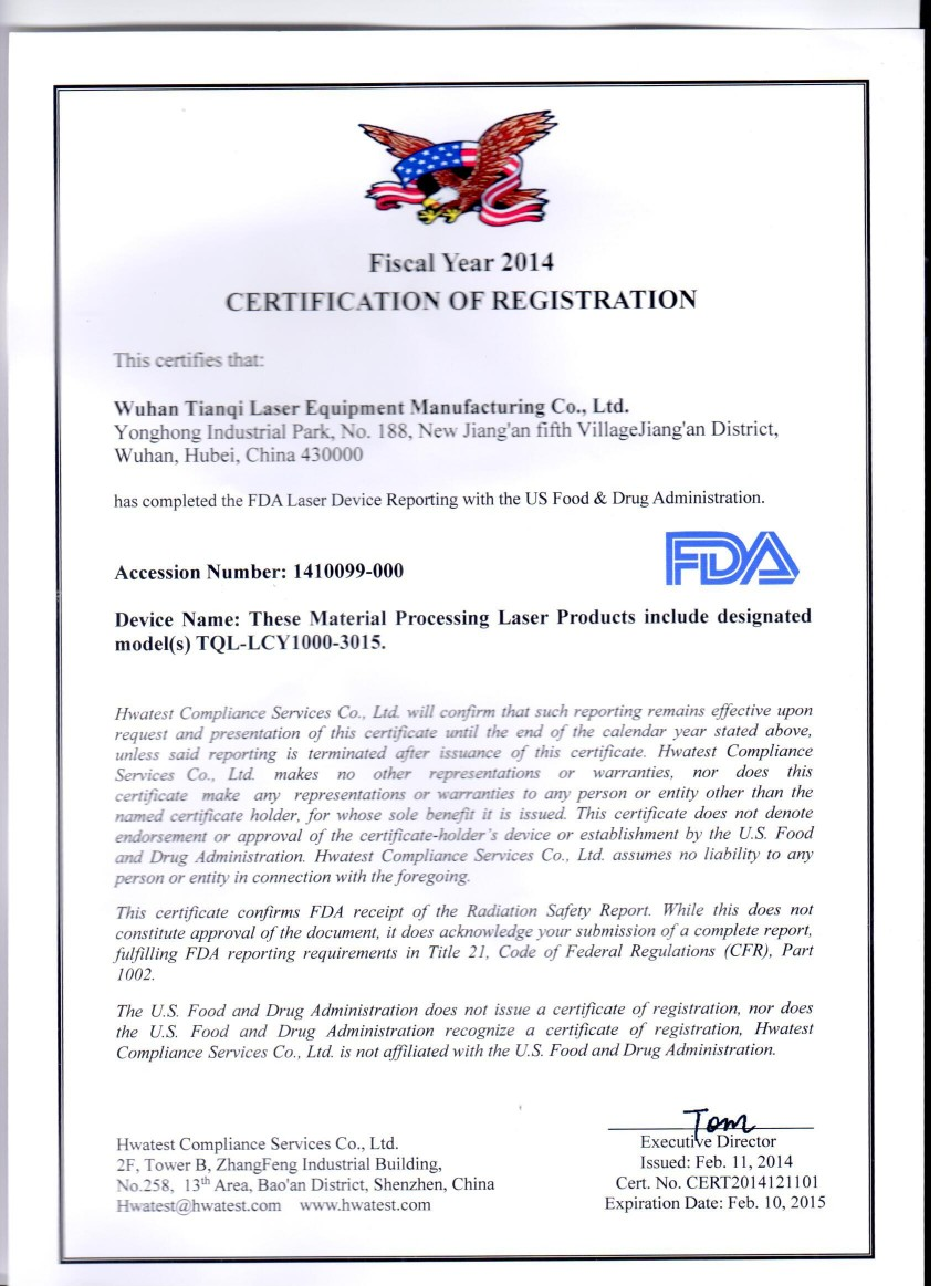 FDA Certification