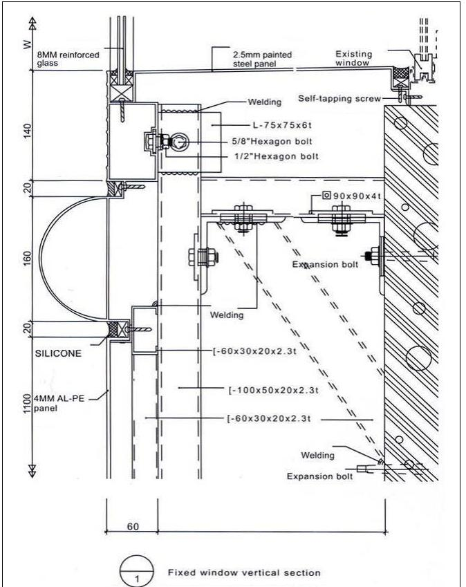 Aluminum Composite Panel Details : The gallery for gt aluminium window section details
