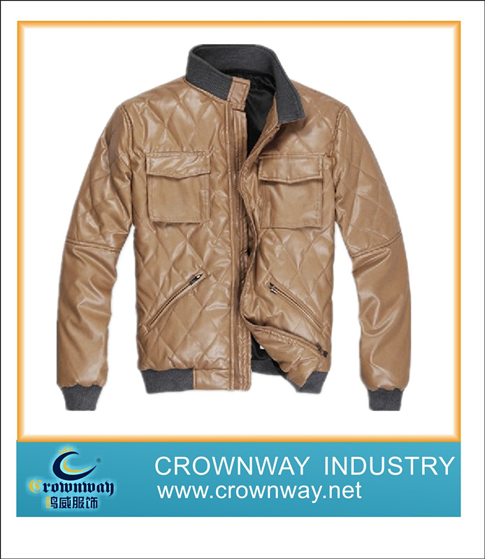 Mens PU Leather Jacket(CW-MLJ-A23) - Xiamen Crownway Apparel Co., Ltd