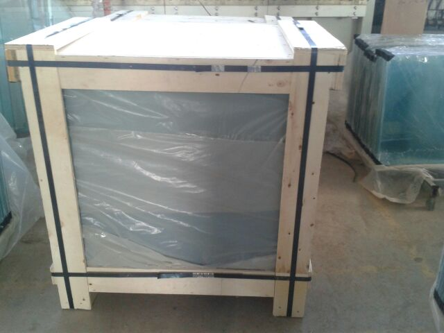 Wooden crates end cap packaging sunny glass co ltd