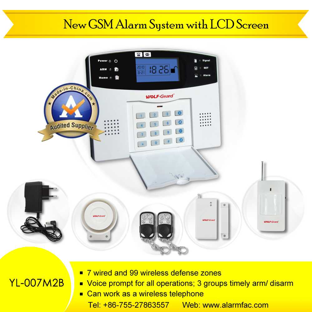GSM Wireless Home Business Security Alarm System(YL007M2B) - Shenzhen