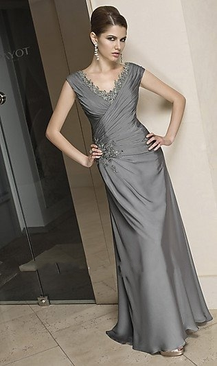 Beaded knee length satin mother of the bride dress with jacket on sale