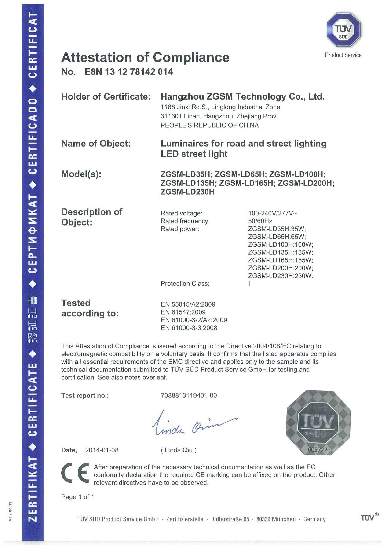 ce led certification street