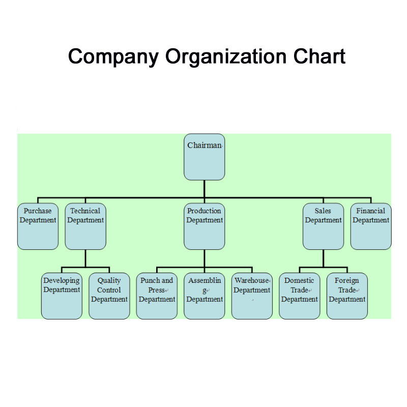 Sales department organizational structure