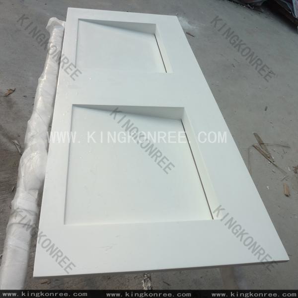 Hot sale products kingkonree international china surface industrial co ltd - Custom solid surface bathroom vanity tops ...