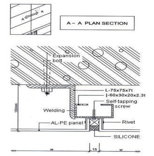 Aluminum Composite Panel Details : Ideabond aluminium composite panel installation gm section