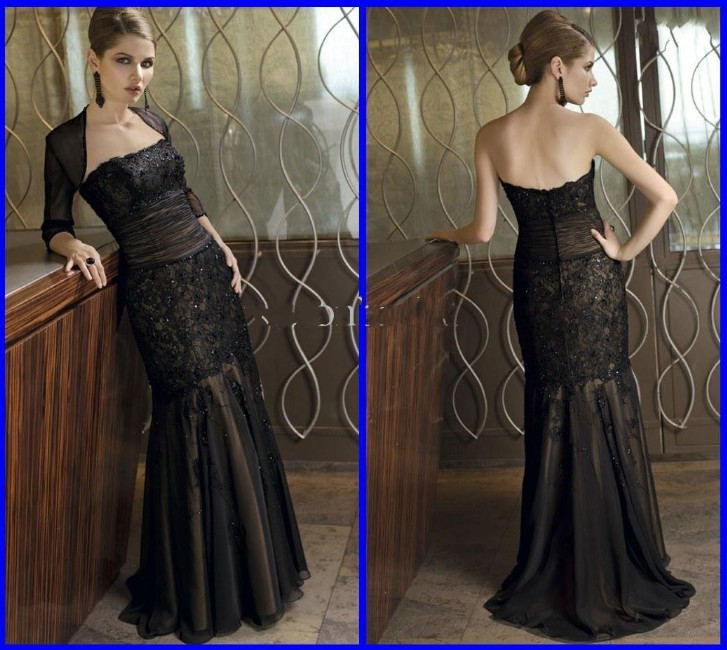 Sexy Lace Black Mermaid New Sheath Vintage Mother of The Bride Dresses