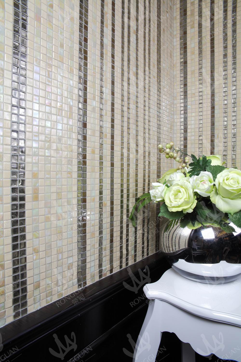 Living room wall tile used mosaic design foshan rongguan for Wall tiles living room ideas