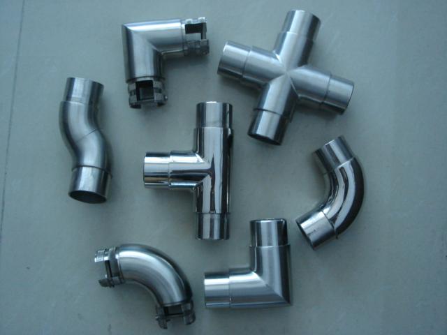 Aluminum pipe handrail