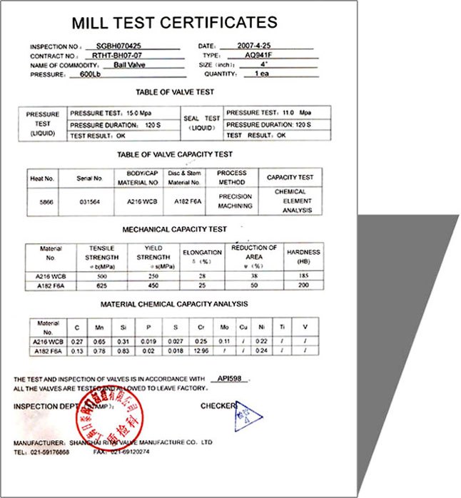 Material test certificates qc inspection amp testing mandegarfo material test certificates qc inspection amp testing yelopaper Images