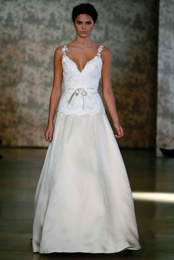 A-line wedding dress in white