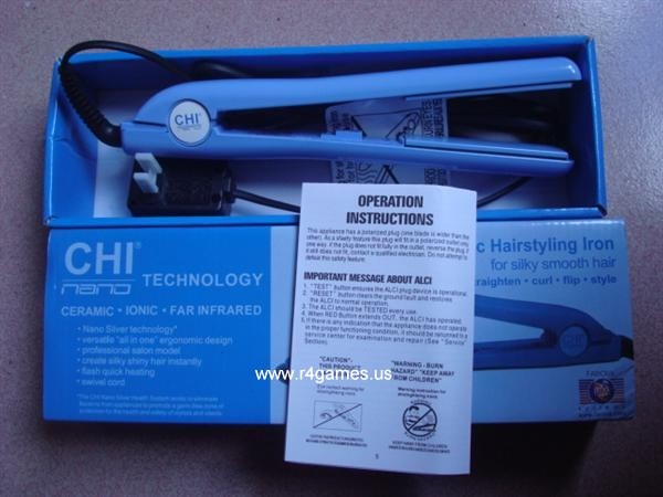 CHI Pink Dazzle Ceramic Hairstyling Iron with Free Travel Pouch