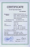 Certificate for EC Type-Examintation