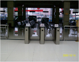 stainless steel turnstile for railway station