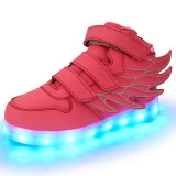Cool Simulation Wings Kids LED Shoes for Gifts