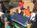 Installation of our solar panel in Ghana, Africa
