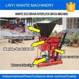 WANTE BRAND WT1-25/WT2-25 Eco brava interlock brick making machine deliveirng to Tanzania