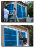 PE film for window glass protection