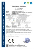 CE certificate of turnstile