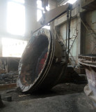 Tilting Furnace( Dumping Furnace) in working
