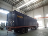 Machine loading in 40 OT container