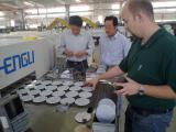 Hungary Customer tests their samples in Hengli factory