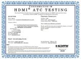 Confirmation of HDMI ATC Testing HDMI CABLE 1.83M (6FT)