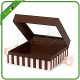 Gift box with clear pvc windows