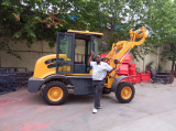 Africa customer with ZL10 wheel loader