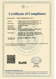 CE and RoHS certificate