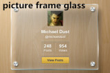 1.8mm-2mm picture frame glass