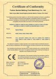 CE (EMC) certificate for Dough Mixer