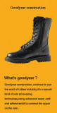 Goodyear welt construction military boots