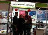 Mr Janson with customer