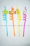 4pcs PVC plastic party drinking straw