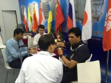 Chat with customers in the event