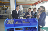 Foreign customer visiting our factory