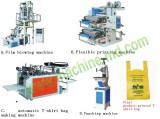 T shirt bag making machine line