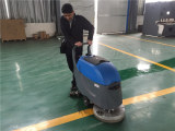 Indian client come to our factory order floor scrubber