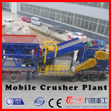 Four Roller Crusher Mobile crushing plant