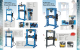 Pneumatic/Hydraulic shop press with Gauge