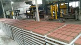 Customer′s block making factory