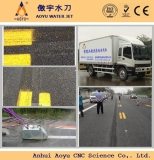 high pressure waterjet cleaner/ road marking removal