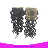 4*4inch closure Italian wave Grade 8A unprocessed virgin hair