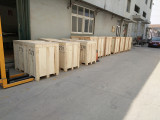 Factory machine shipping and packaging